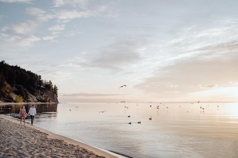 Ada & Kuba - sesja narzeczeńska nad morzem - Klif w Orłowie - Gdynia 12